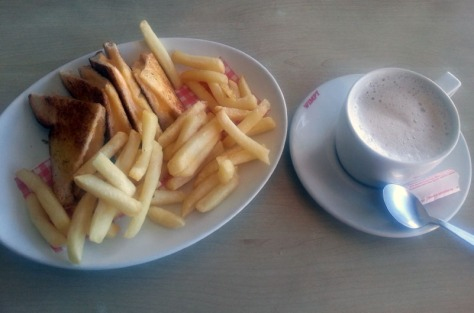 Wimpy coffee and toasted cheese