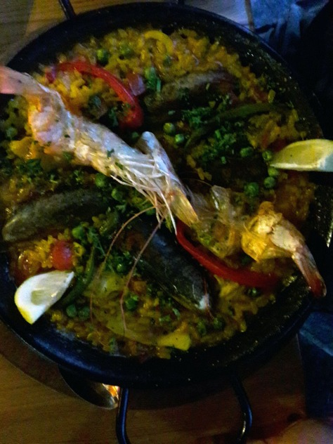 Paella at Espana in Burgundy Estate