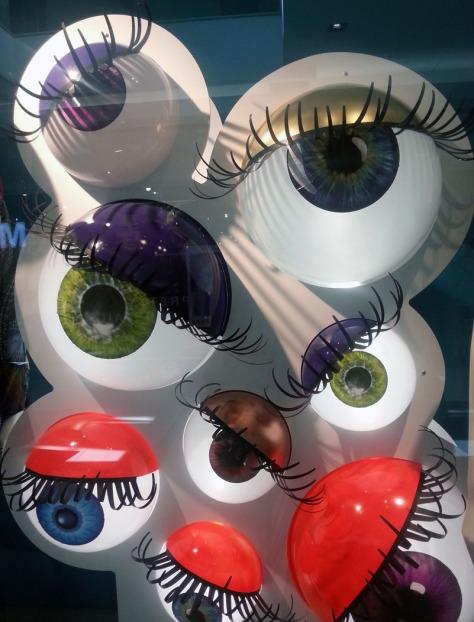 Eyeball window display