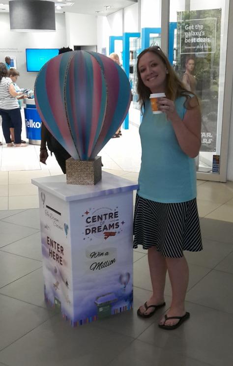 Hot-air balloon mall display