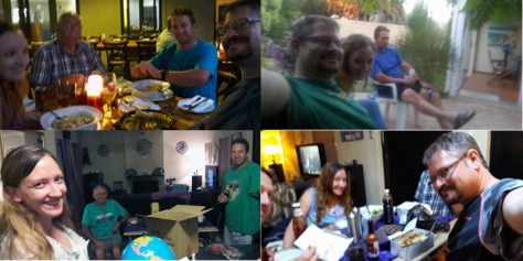 We loved having Dad-in-law and Will with us - they left early on Tuesday for the long trip back to Joburg. A few of the arm-stretch selfies we took during their stay were a little blurry, but they make me smile so I made a little collage of them here. Expect more next year!