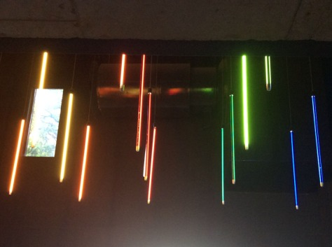 Lightsabre lights in FCB building reception