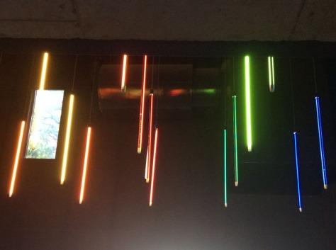 Lightsabre lights in FCB building reception