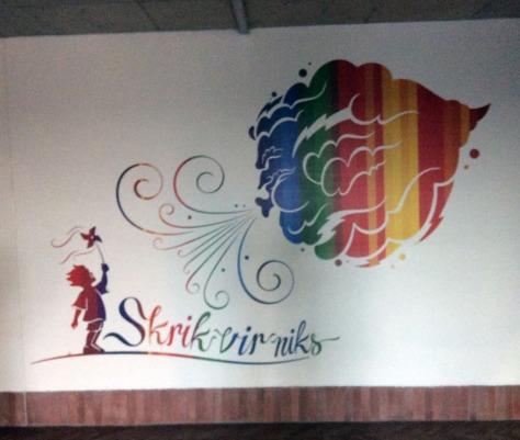 FCB wall art Skrik vir niks