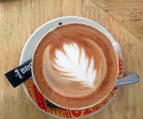 Bayside Mugg & Bean flat white cappuccino