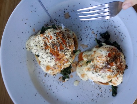 Eggs florentine at Primi