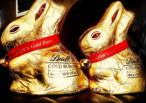 Personalised Lindt bunnies