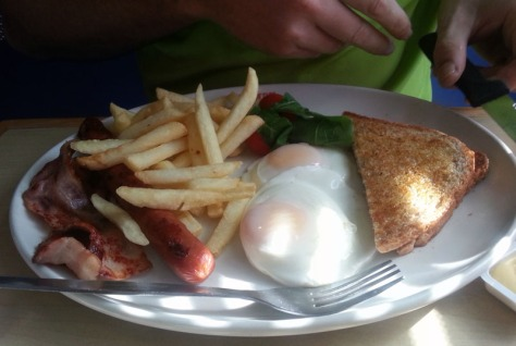 Wimpy streaky bacon breakfast