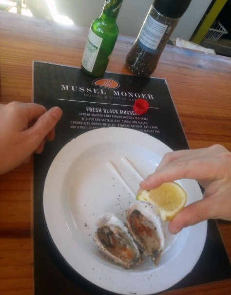 Oysters at Mussel Monger at Route 44 Market