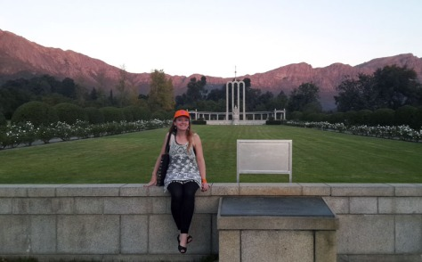 Sunset at Huguenot Monument in Fraschhoek