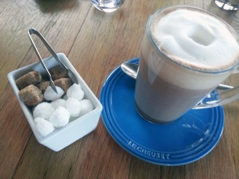 Hot chocolate at the Living Room.