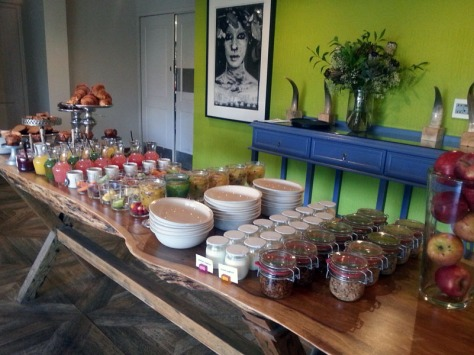 Breakfast buffet at the Living Room