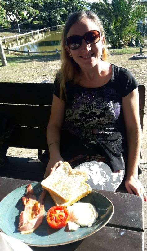 Duckling breakfast at Driftwood