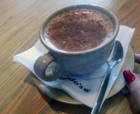 Chilli hot chocolate at Nando's