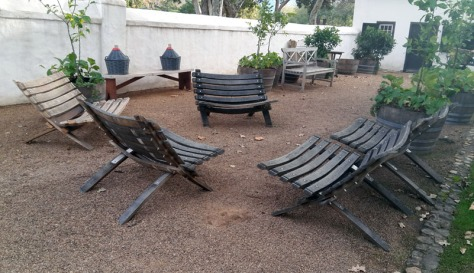 Chairs at Boschendal