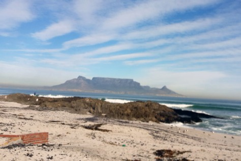 Table Mountain and cloudy sky