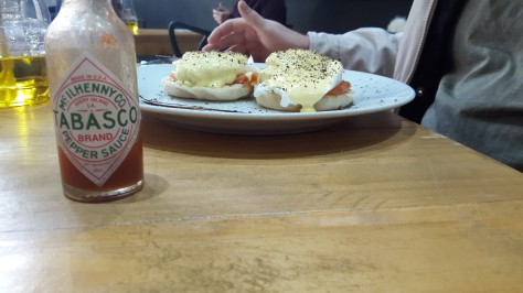 Eggs benedict at The Daily