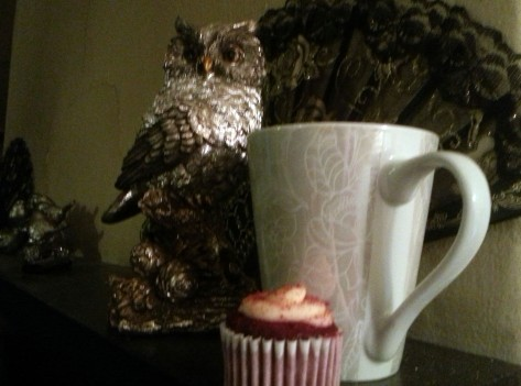 Coffee, cupcake and owl
