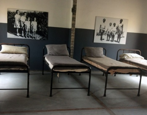 Robert Sobuwe children beds on Robben Island.