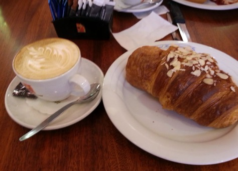 Croissant and cappuccino at Raith's