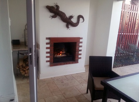 Fireplace at Coach House at Val du Charron