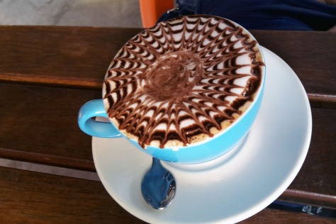 Chocolate peppermint latte at Reload