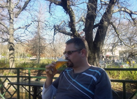 Sitting under trees at BICCCS in Franschhoek