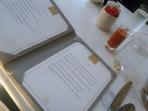 The Conservatory menu