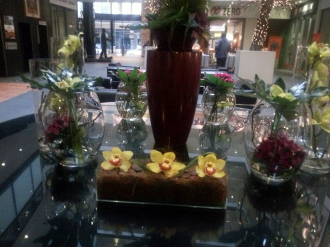 Flowers in Mandela Rhodes Hotel