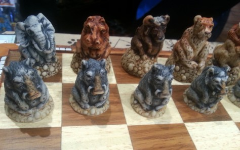Animal chess board