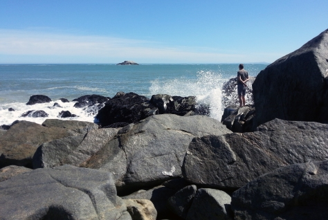 Waves and rocks at Yzerfontein