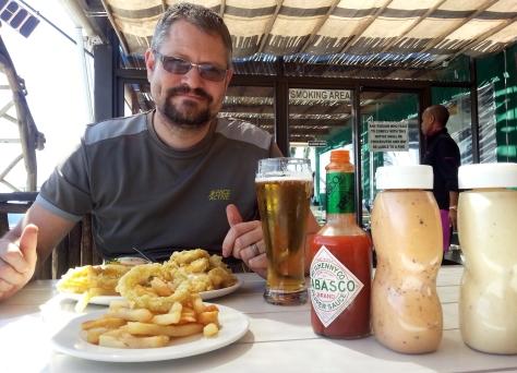 Calamari burger at Driftwoods