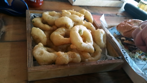 Onion rings at Jerry's Burgers