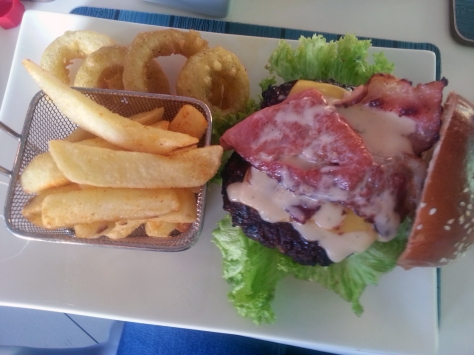 Buccaneer beef burger at Catch22