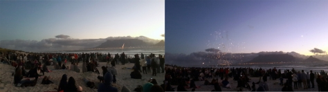 Guy Fawkes on Blouberg beach