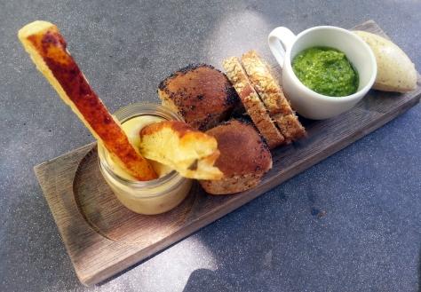 Grande Provence restaurant bread board.