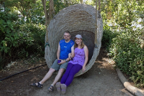 Sitting in egg chair at Company's Garden