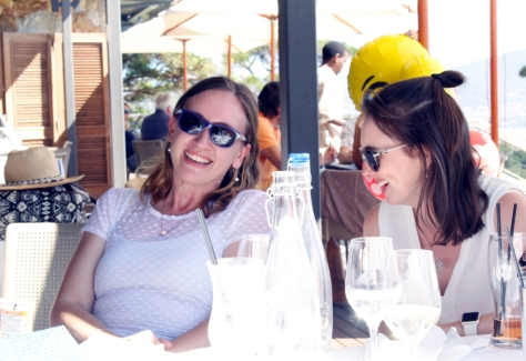 Laughing at Cape Point Vineyards, Noordhoek