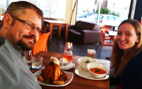 Chicken bunny chow and korma at Inside Lounge, Eden on the Bay