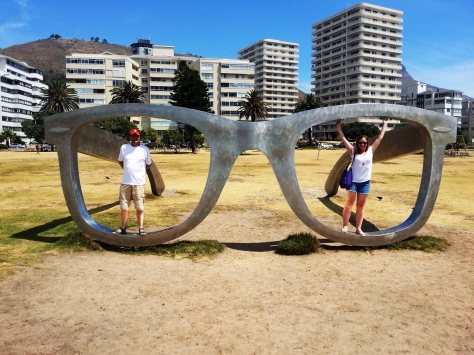 Glasses sculpture in Sea Point