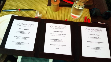 Menu at Catharina's