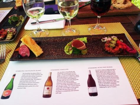 Savoury wine pairing at Catharina's