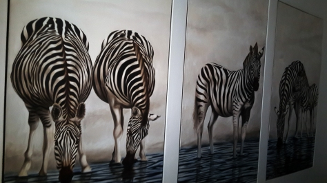 Zebra art in Val du Charron conference room.