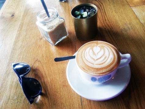Cappuccino at The Hart Bakery, Melkbos