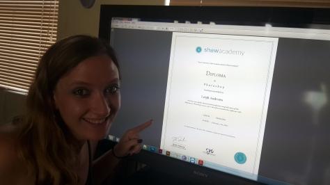 Shaw Academy Photoshop diploma.