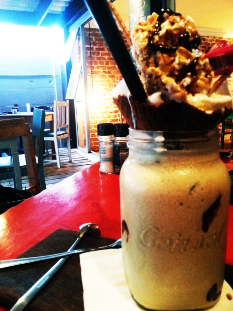 Monster coffee shake at FUE