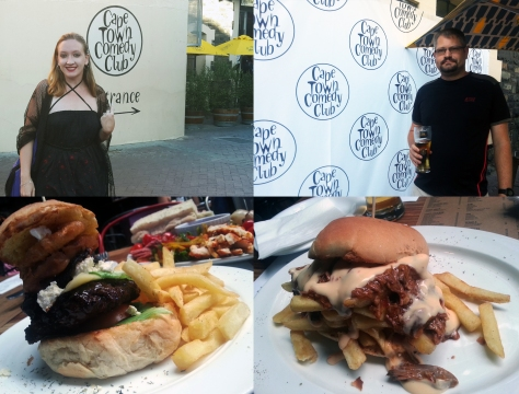 Burger at Cape Town Comedy Club