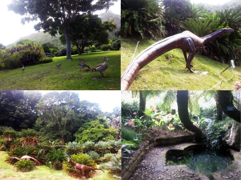 dinosaurs at Kirstenbosch and natural spring