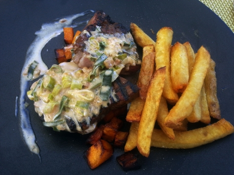 Sirloin and handcut chips.