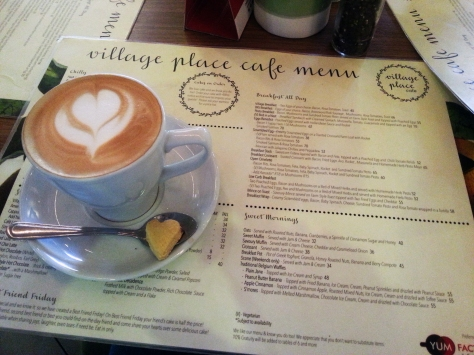 Cappuccino at Village Place Cafe.